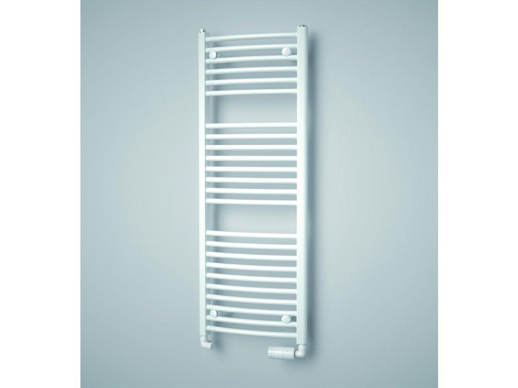 ISAN GRENADA RADIUS elektrický koupelnový radiátor, sněhově bílý (RAL 9016)