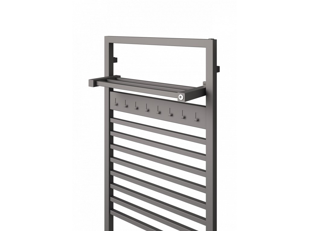 NOVINKA - ISAN FINIX elektrický designový koupelnový radiátor, sněhově bílý (RAL 9016)  - Kopie