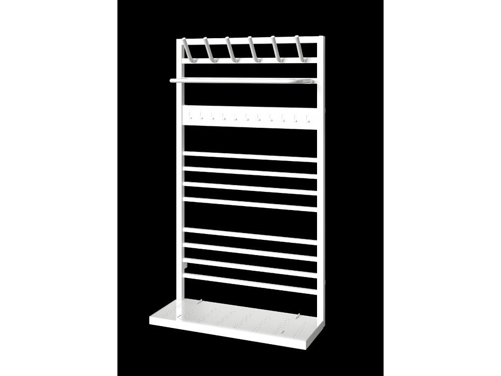 NOVINKA - ISAN NIX designový koupelnový radiátor, sněhově bílý (RAL 9016)  - Kopie