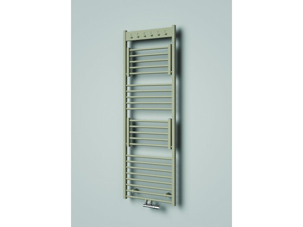 NOVINKA - ISAN FLEXI designový koupelnový radiátor, sněhově bílý (RAL 9016)