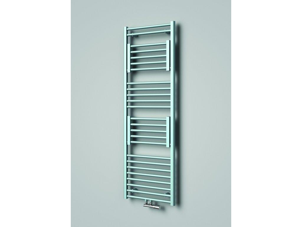 NOVINKA - ISAN RYTMO designový koupelnový radiátor, sněhově bílý (RAL 9016)