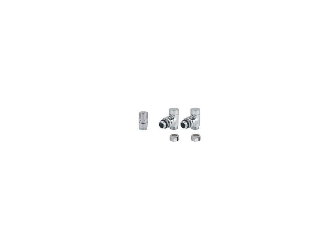 ISAN - Designová termostatická SADA č. 163 CHROM