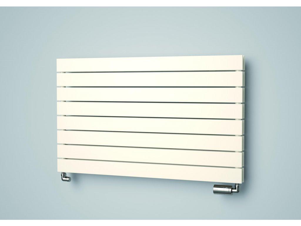 ISAN COLLOM DOUBLE HORIZONTAL koupelnový radiátor, sněhově bílý (RAL 9016) 602/1000