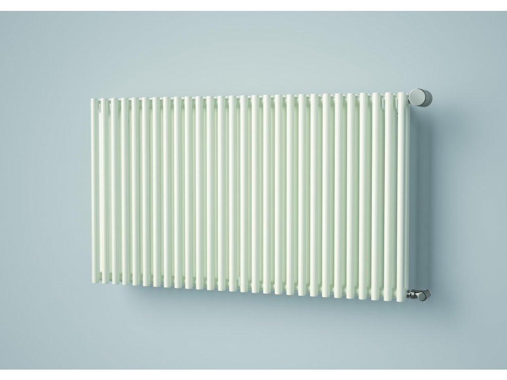 ISAN ARUBA DOUBLE HORIZONTAL koupelnový radiátor, sněhově bílý (RAL 9016)