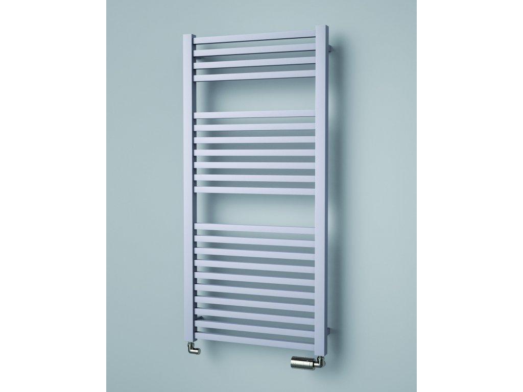 ISAN QUADRAT elektrický koupelnový radiátor, sněhově bílý (RAL 9016) 1255/500