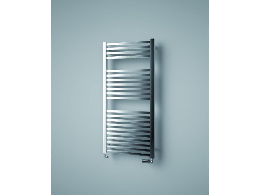 ISAN QUADRAT CHROM elektrický koupelnový radiátor 1255/500