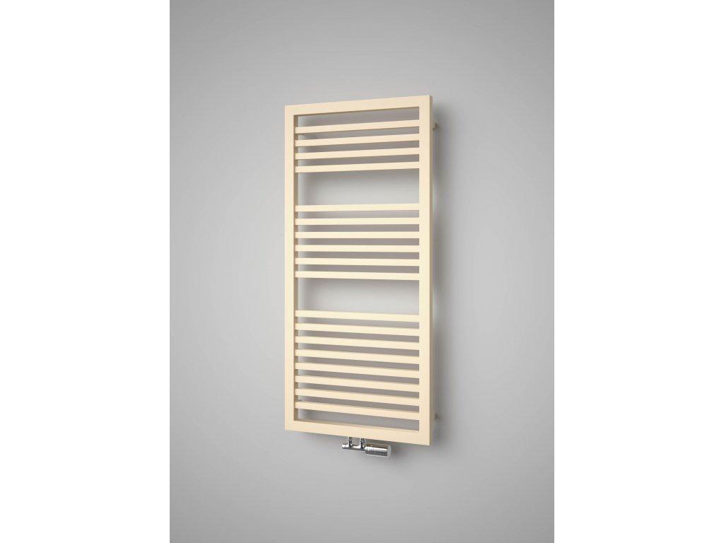 ISAN QUADRAT PLUS koupelnový radiátor, sněhově bílý (RAL 9016) 1245/600