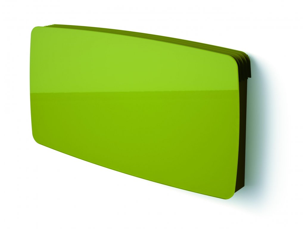 ISAN JOY WALL R trávově zelený/green grass, skleněný designový radiátor 1130/4