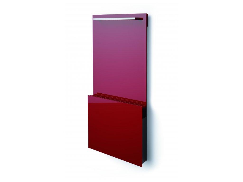 ISAN JOY BATH červený chilli/chilli red, skleněný designový radiátor 700/6
