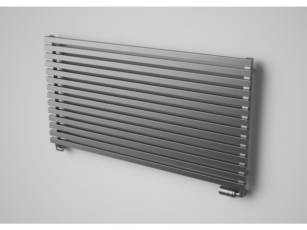 NOVINKA - ZOYA INOX koupelnový, designový radiátor, kartáčovaná nerez 615/1000