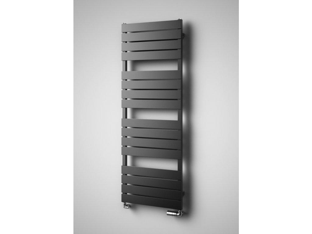 NOVINKA - ISAN ATRIA koupelnový, designový radiátor, sněhově bílý (RAL 9016) 800/550