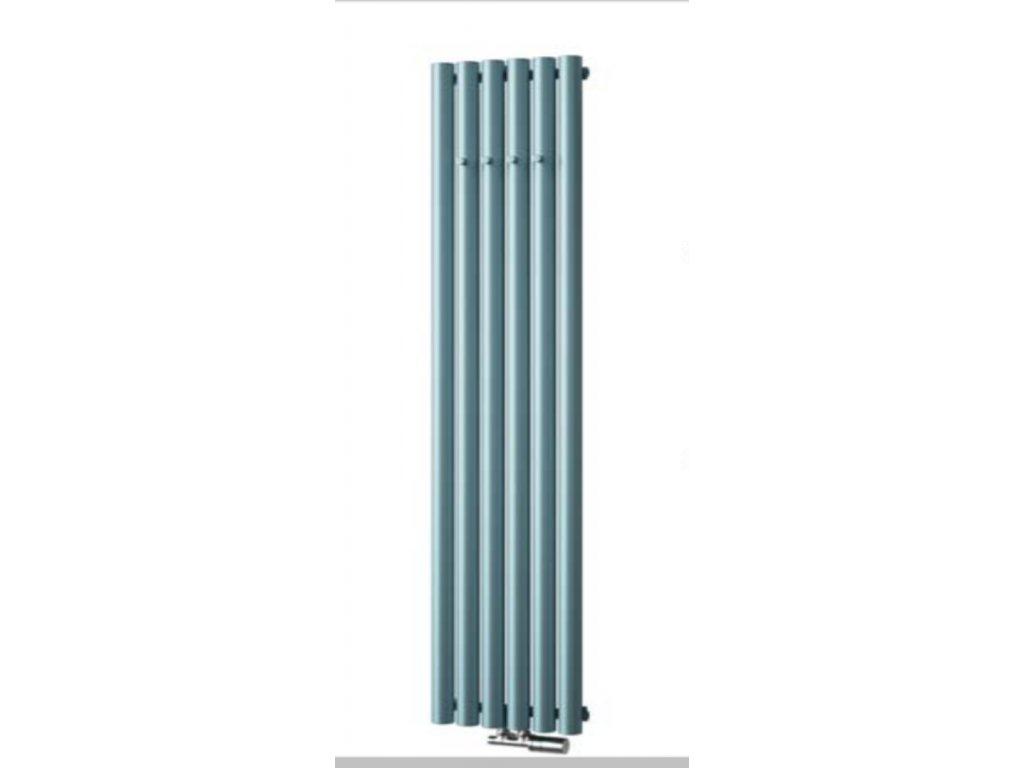 NOVINKA - ISAN AKROS s háčky, designový, koupelnový radiátor, sněhově bílý (RAL 9016)