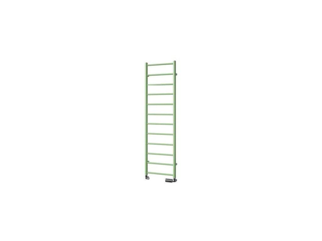 NOVINKA - ISAN AURA designový koupelnový radiátor, sněhově bílý (RAL 9016) 1140/300