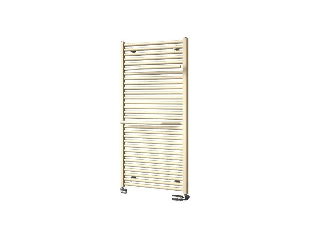 NOVINKA - ISAN AVONDO designový koupelnový radiátor, sněhově bílý (RAL 9016) 775/500