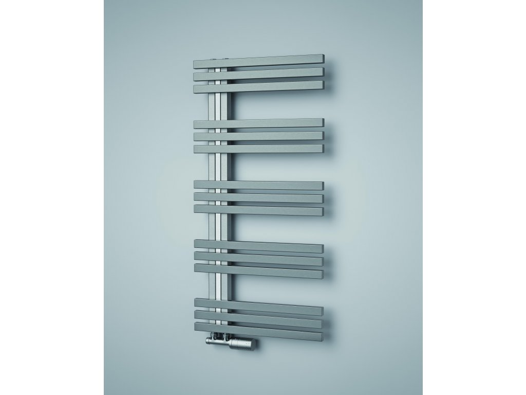 ISAN ECHO INOX elektrický koupelnový, designový radiátor, kartáčovaná nerez 1000/500