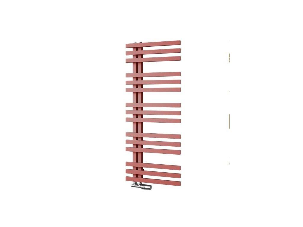 ISAN ECHO koupelnový, designový radiátor RAL 9016 (sněhově bílý) 955/500