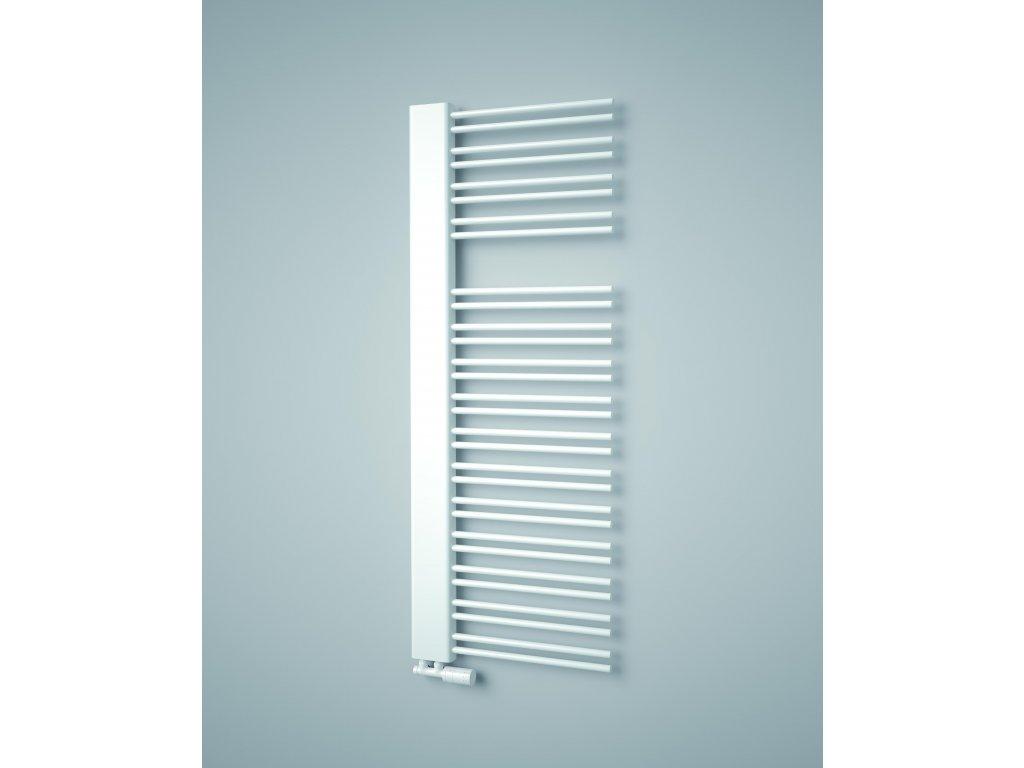 ISAN SWINGO elektrický designový koupelnový radiátor, sněhově bílý (RAL 9016)