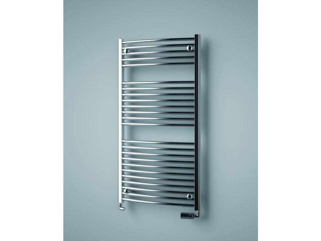 ISAN PALMYRA RADIUS CHROM elektrický koupelnový, designový radiátor