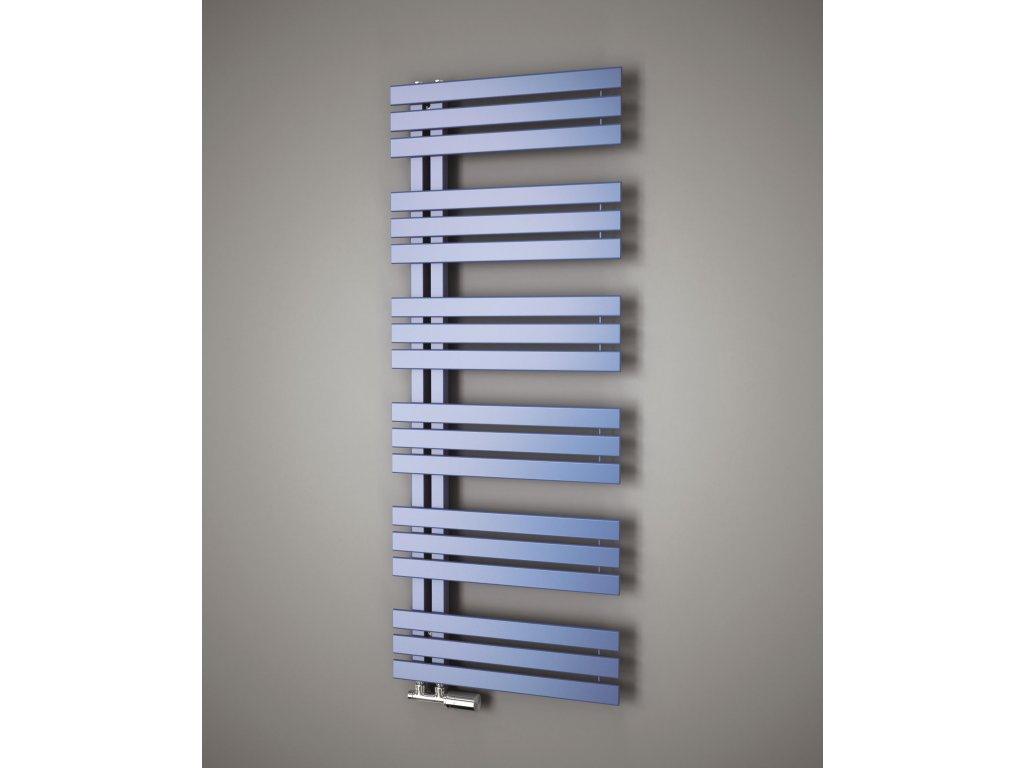 NOVINKA - ISAN MIRO koupelnový, designový radiátor, sněhově bílý (RAL 9016)