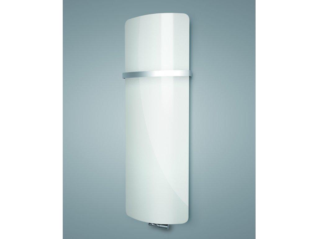 ISAN VARIANT GLASS skleněný designový radiátor  PURE WHITE 1810/620
