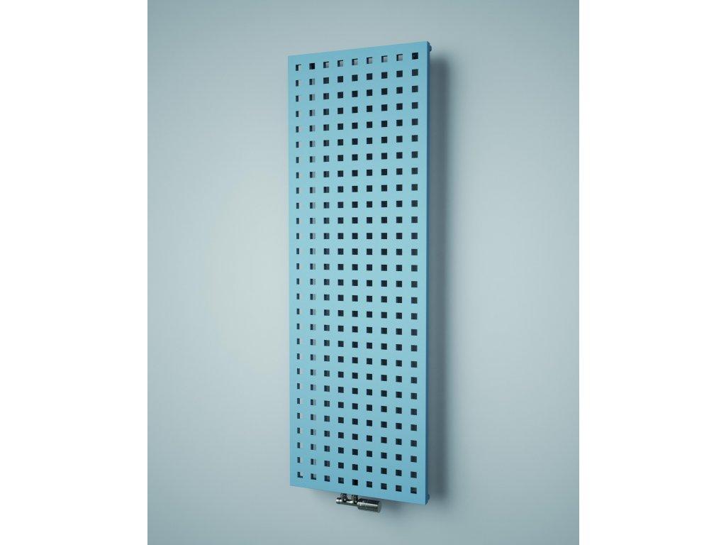 ISAN SOLAR designový koupelnový radiátor, sněhově bílý (RAL 9016)