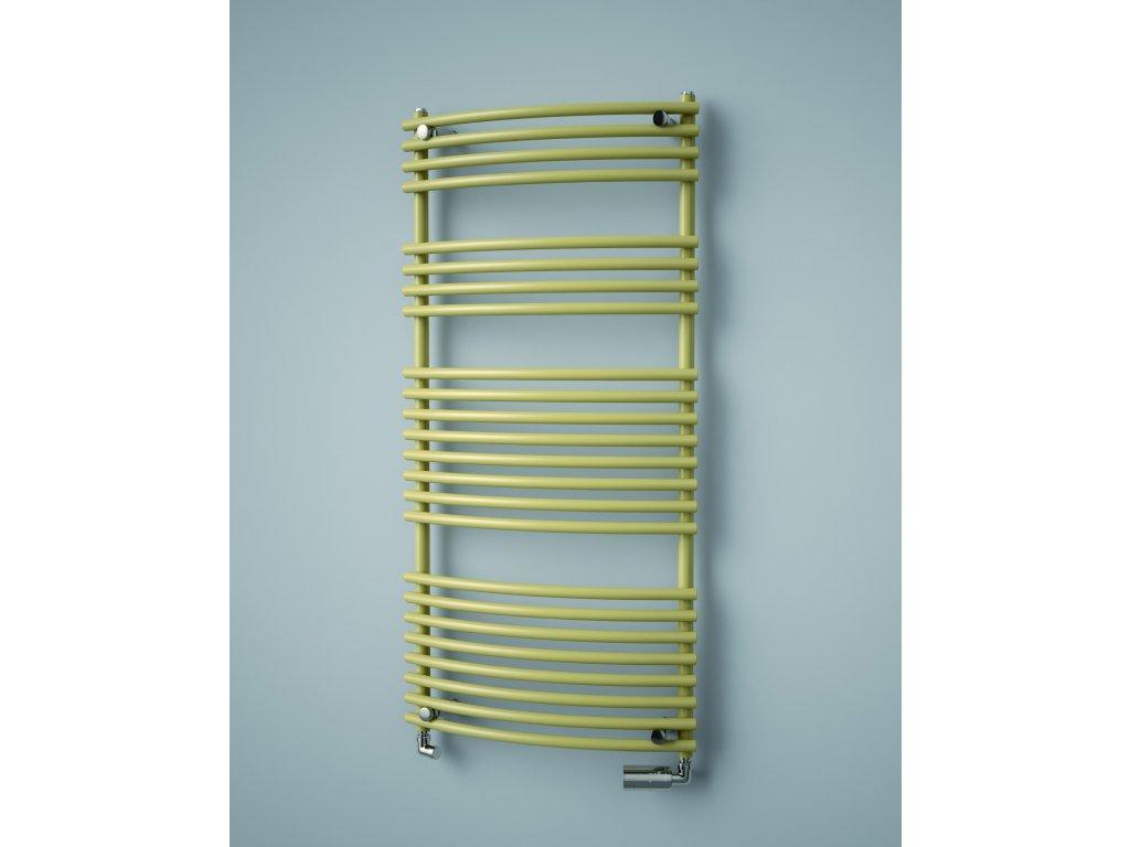 ISAN IKARIA RADIUS koupelnový radiátor, sněhově bílý (RAL 9016)