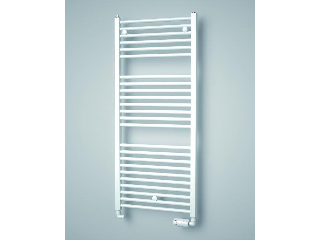 ISAN TONGIA elektrický  koupelnový radiátor, sněhově bílý (RAL 9016)
