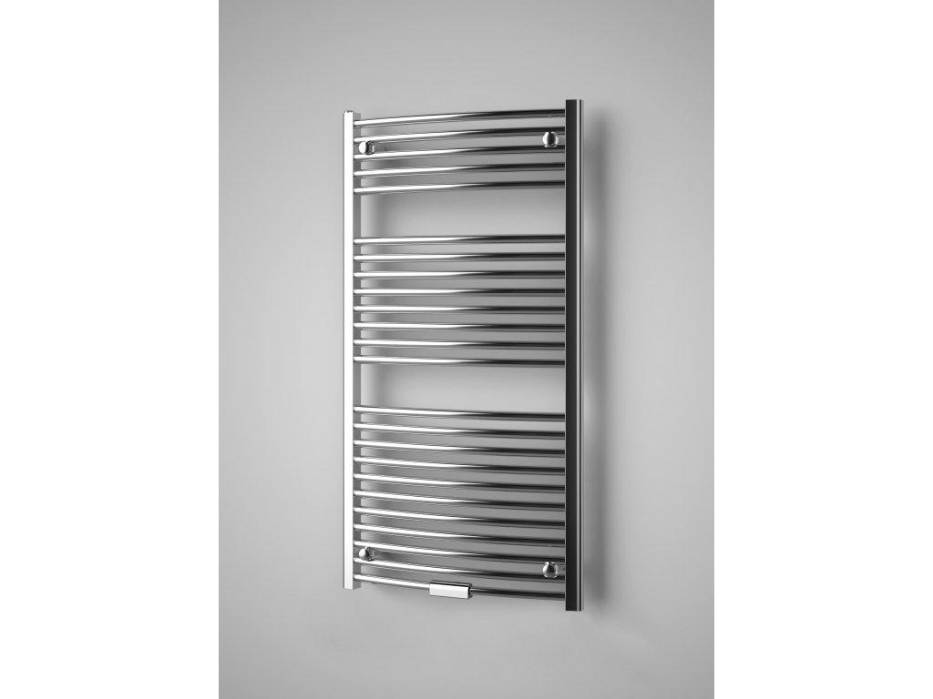 ISAN PALMYRA RADIUS CHROM koupelnový, designový radiátor