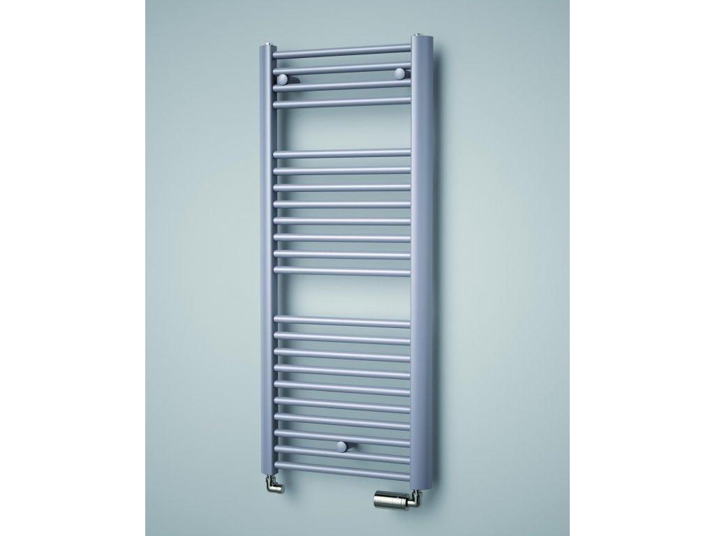 ISAN SPIRA koupelnový radiátor, sněhově bílý (RAL 9016)