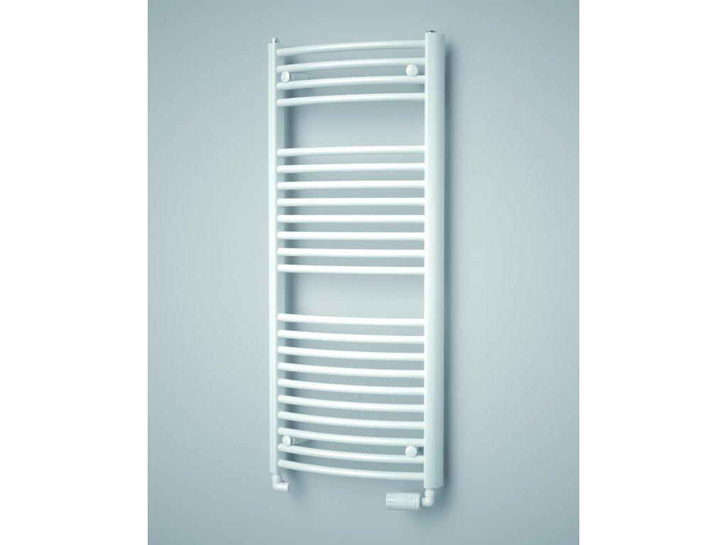ISAN SPIRA RADIUS elektrický koupelnový radiátor, sněhově bílý (RAL 9016)