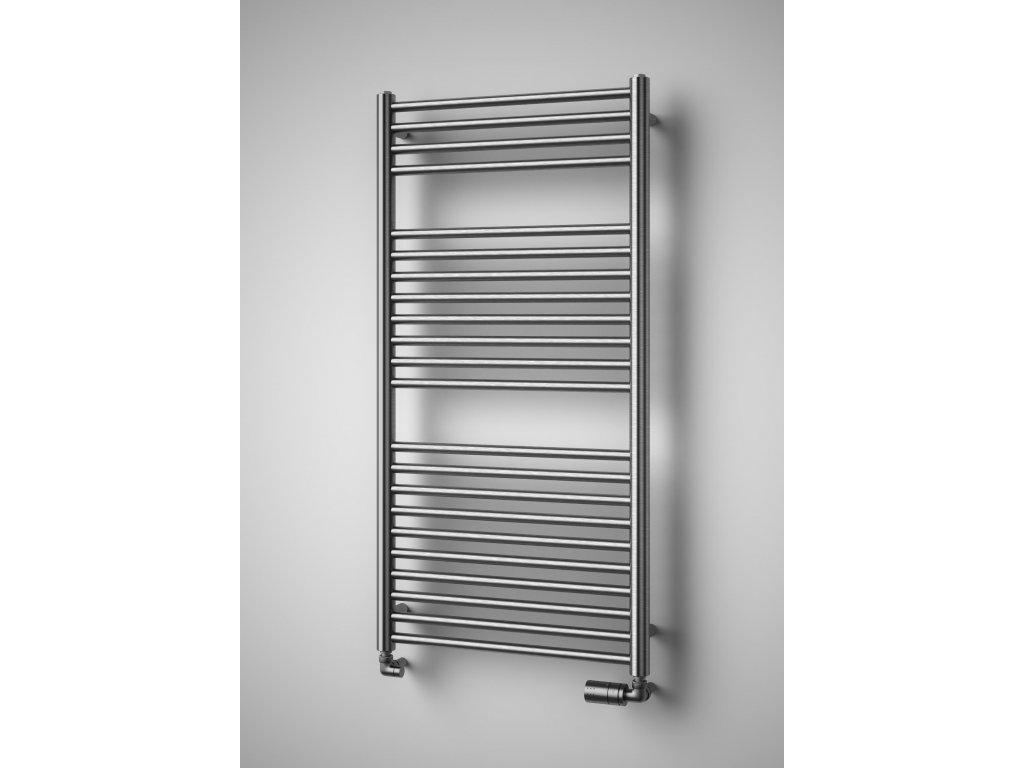 NOVINKA - SILLA INOX elektrický koupelnový, designový radiátor, kartáčovaná nerez