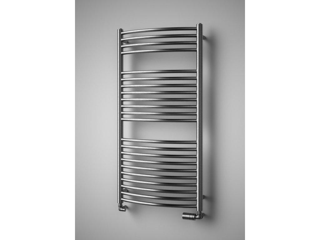 NOVINKA - SILLA RADIUS INOX elektrický koupelnový, designový radiátor, kartáčovaná nerez
