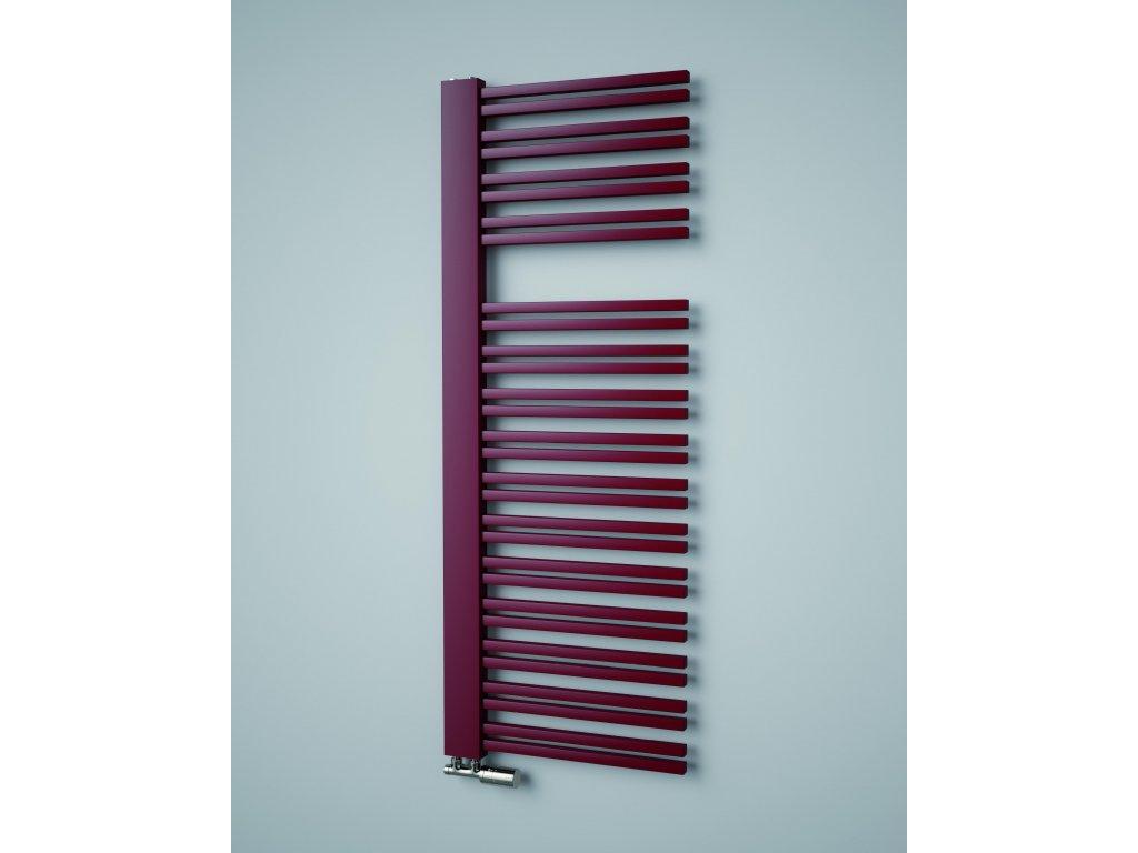 ISAN SWING designový koupelnový radiátor, sněhově bílý (RAL 9016)