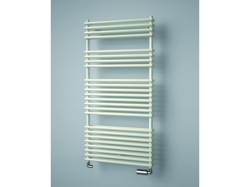 ISAN IKARIA DOUBLE elektrický koupelnový radiátor, sněhově bílý (RAL 9016)