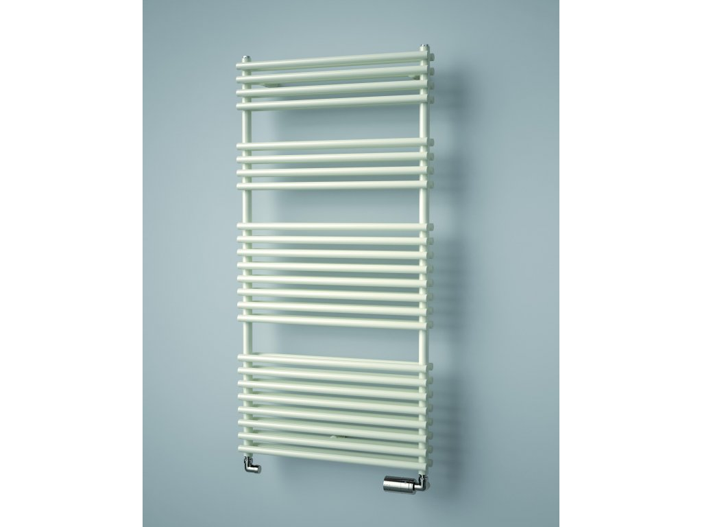 ISAN IKARIA DOUBLE koupelnový radiátor, sněhově bílý (RAL 9016)