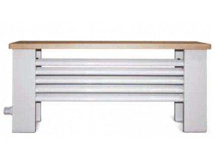 ISAN Otopná lavice ATOL, sněhově bílá (RAL 9016)