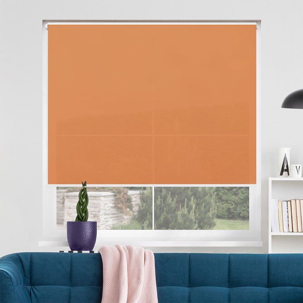 Roleta Látková, v POLO kazetě, STANDARD, Tmavě oranžová, LA 618