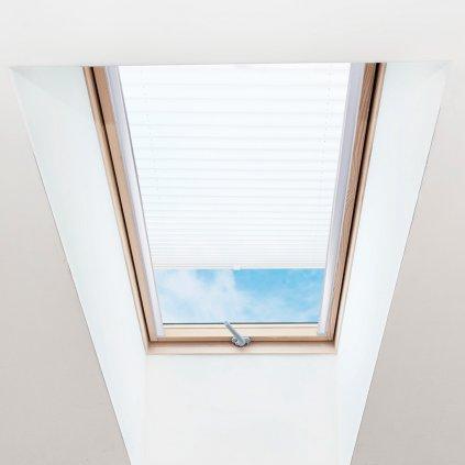 Roleta Plisé na střešní okna, s profilem Classic, Průsvitná, Bílá, P 001 detail