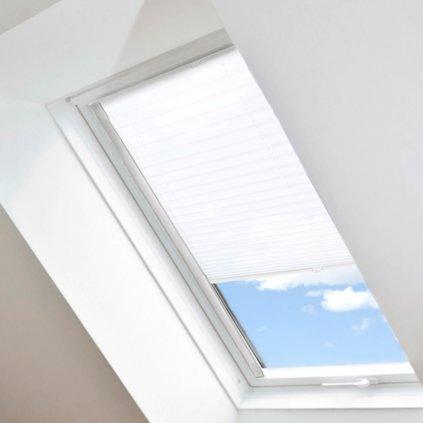 Roleta Plisé na střešní okna, s profilem Classic, Stínicí, Bílá, P 7234 detail