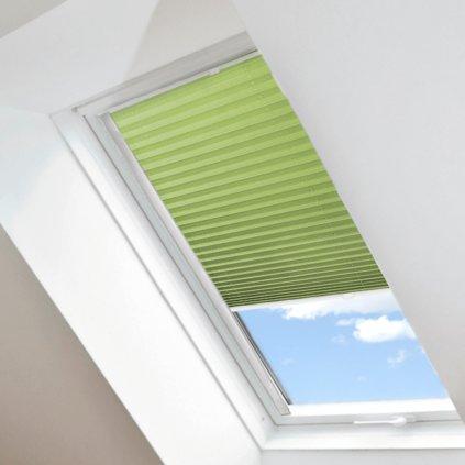 Roleta Plisé na střešní okna, s profilem Decor, Stínicí, Světle zelená, P 10432 detail