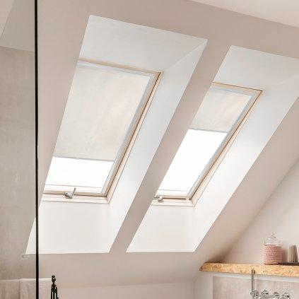 Roleta Látková na střešní okna, s profilem Decor, BASIC, Béžová, LT 103 detail