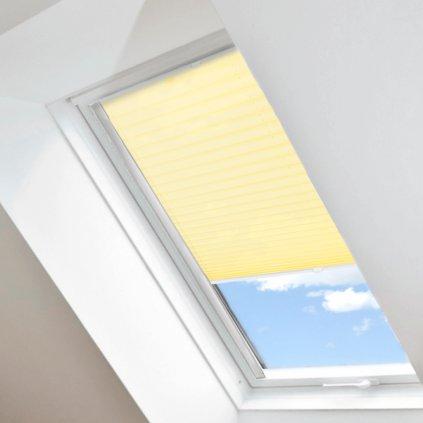 Roleta Plisé na střešní okna, s profilem Classic, Neprůhledná, Světle žlutá, P 10451 detail
