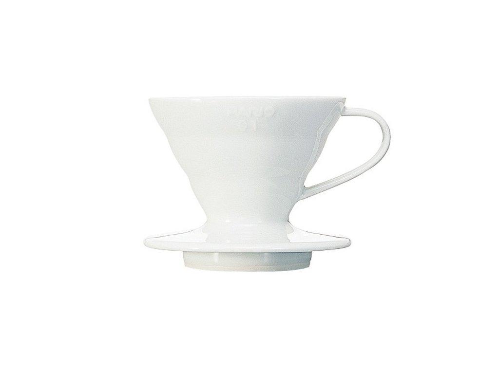 Hario keramický dripper na kávu V60 01 bílý