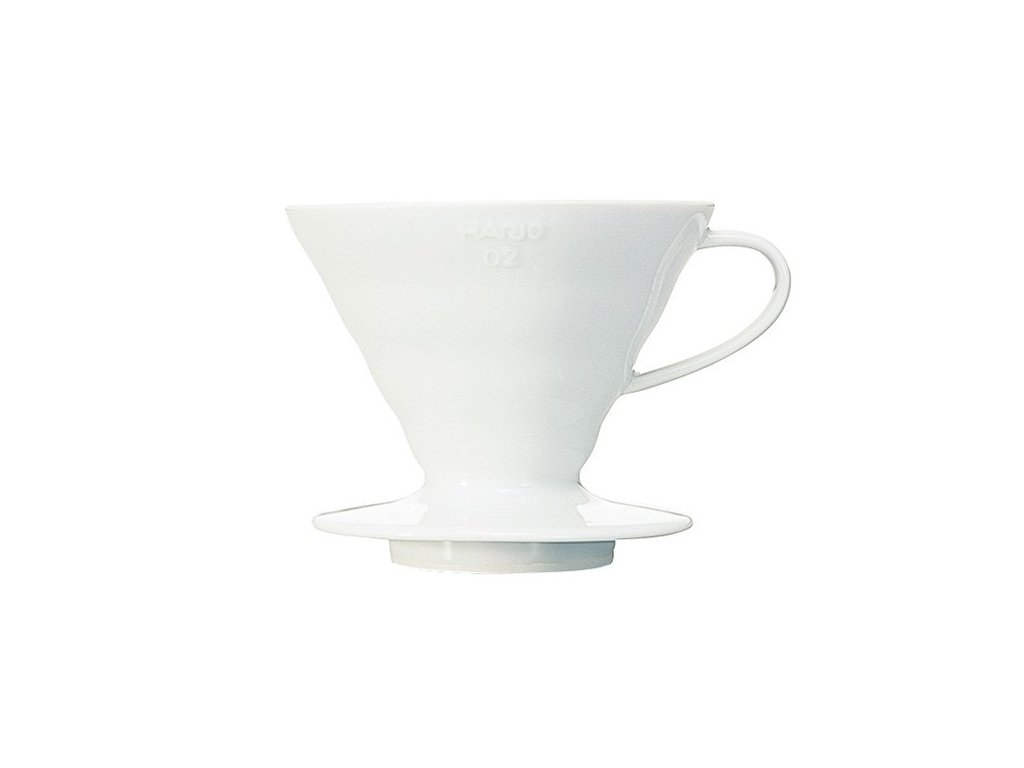 Hario keramický dripper na kávu V60 02 bílý