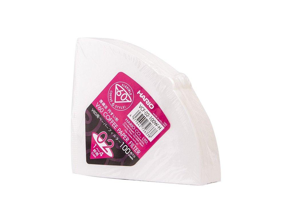 Hario papírové filtry na Drip V60 02 100 ks