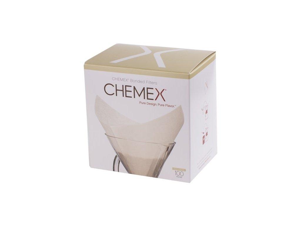 Chemex papírové filtry čtvercové 100 ks