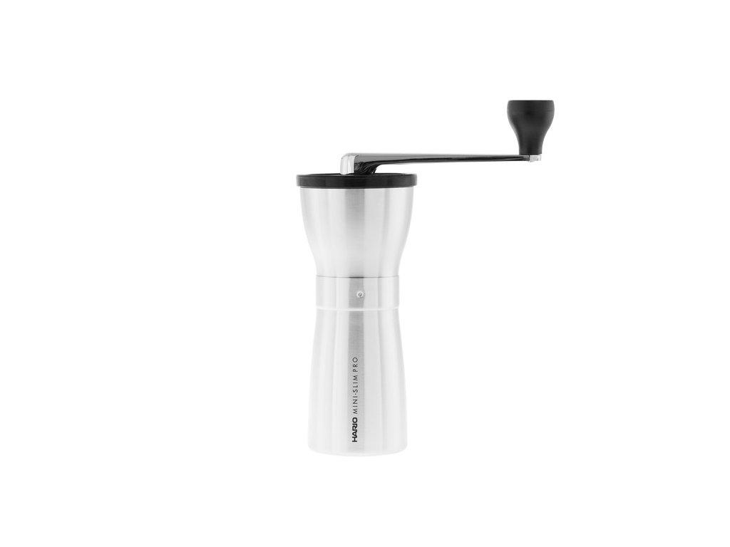 Hario MINI SLIM PRO ruční mlýnek na kávu stříbrný