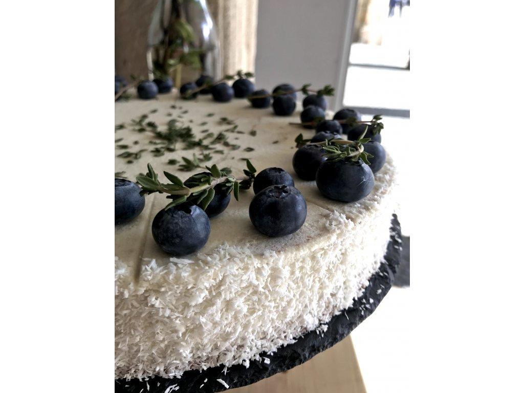 Kokosový dort s borůvkami - VEGAN