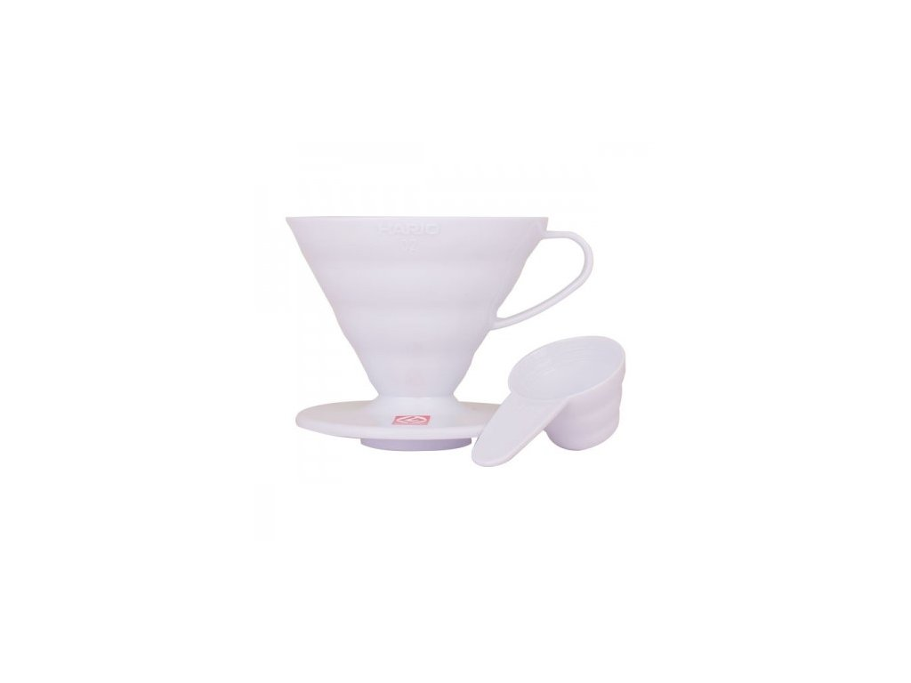 Hario plastový dripper na kávu V60 01 bílý