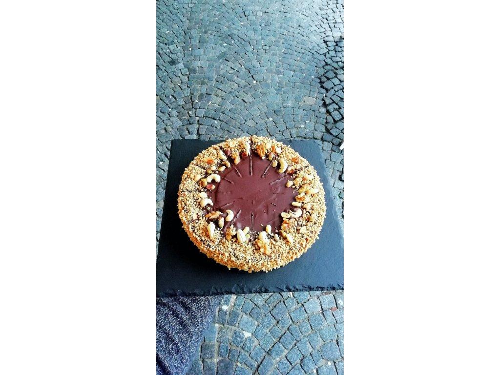 Ořechovo-karamelový dort